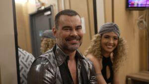 Carmo Dalla Vecchia e Bruna Santos foram eliminados; ator falou sobre discurso de aceitação no reality de dança (foto: Globo/Divulgação)