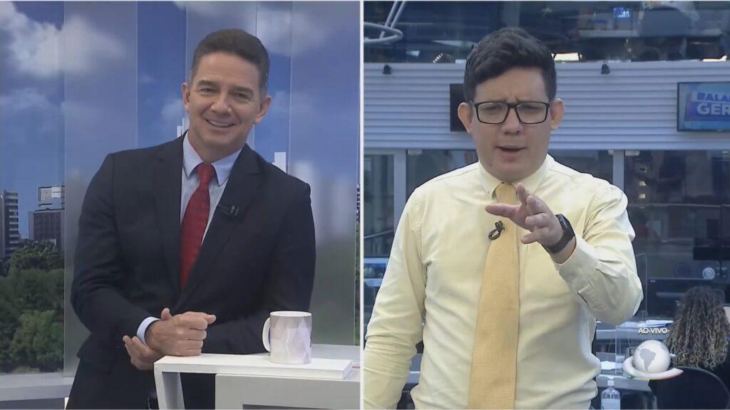 Márcio Lopes é o âncora do Cidade 190 e Erlan Bastos comanda o Balanço Geral CE: telejornais da Record em alta (foto: Reprodução/TV Cidade)