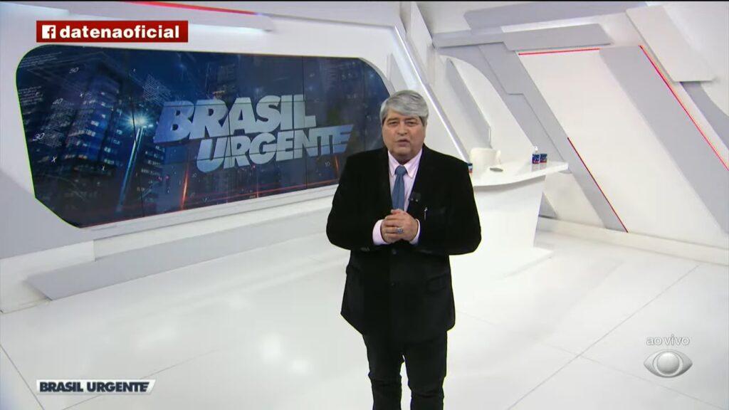 José Luiz Datena se emocionou ao revelar custos de tratamento para sua doença (foto: Reprodução/Band)