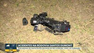 Equipe da EPTV, afiliada da Globo, foi agredida durante produção de reportagem (foto: Reprodução/EPTV)