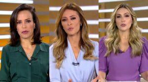 Fabiana Oliveira, Patrícia Costa e Thalita Oliveira vão dividir comando do novo Fala Brasil (foto: Reprodução/Record)