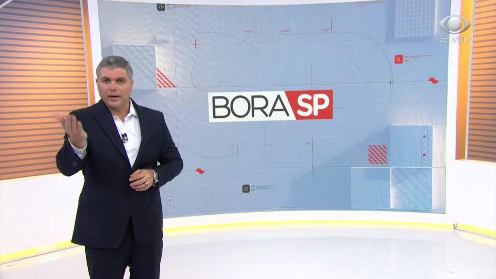 Joel Datena no Bora SP de 9 de julho: empate técnico com a Record (foto: Reprodução/Band)