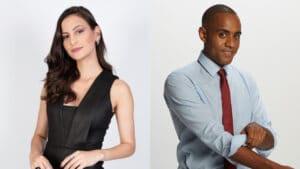 Os apresentadores esportivos Iara Oliveira e Jairo Nascimento da CNN Brasil (foto: Divulgação/CNN Brasil)