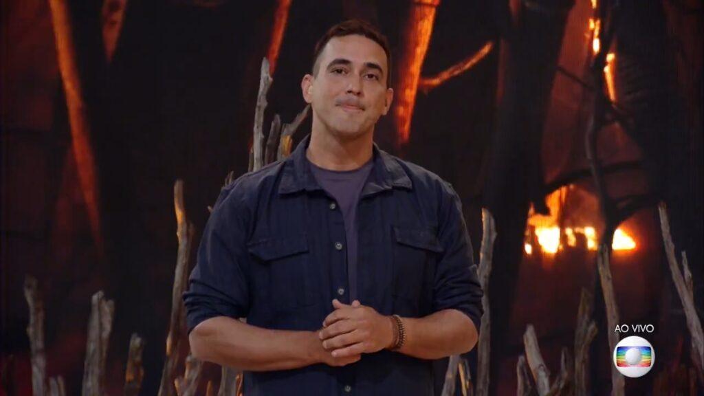 André Marques no desfecho de No Limite 5: pior audiência de uma final (foto: Reprodução/TV Globo)