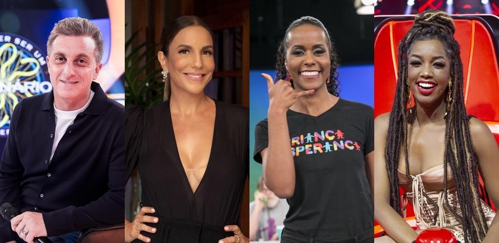 Globo convocou Luciano Huck, Ivete Sangalo, Maju Coutinho e Iza para apresentar o Criança Esperança (foto: Montagem/TV Pop)