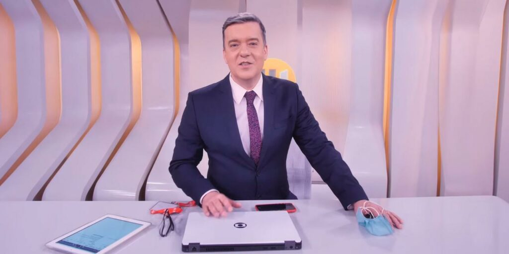 Roberto Kovalick foi cobaia de experimento para conseguir se adaptar ao Hora 1 (foto: Reprodução/TV Globo)