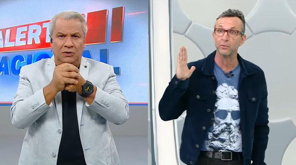 Sikêra Jr. entrou com processo exigindo indenização de José Ferreira Neto (foto: Reprodução/RedeTV! e Band)