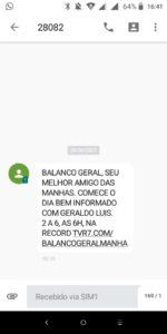 Record enviou propaganda de Geraldo Luís com link que sequer existe (foto: Reprodução/TV Pop)