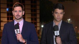 Vinícius Leal e Welington Valadão protagonizaram vídeo com piadas de duplo sentido (foto: Reprodução/TV Globo)