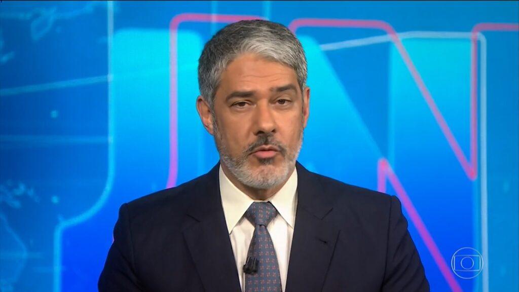 William Bonner no Jornal Nacional de 14 de julho: audiência em alta (foto: Reprodução/TV Globo)