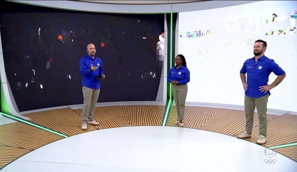 Telão da Globo teve problemas técnicos durante o Esporte Espetacular (foto: Reprodução/TV Globo)