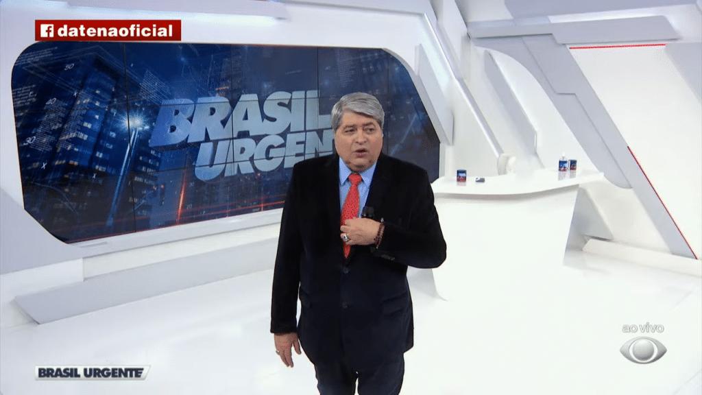 Datena brigou com equipe do Brasil Urgente mais uma vez (foto: Reprodução/Band)