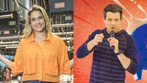 Fernanda Gentil e Celso Portiolli vão ser concorrentes nas tardes de domingo (foto: Globo/João Miguel Júnior - SBT/ Lourival Ribeiro)