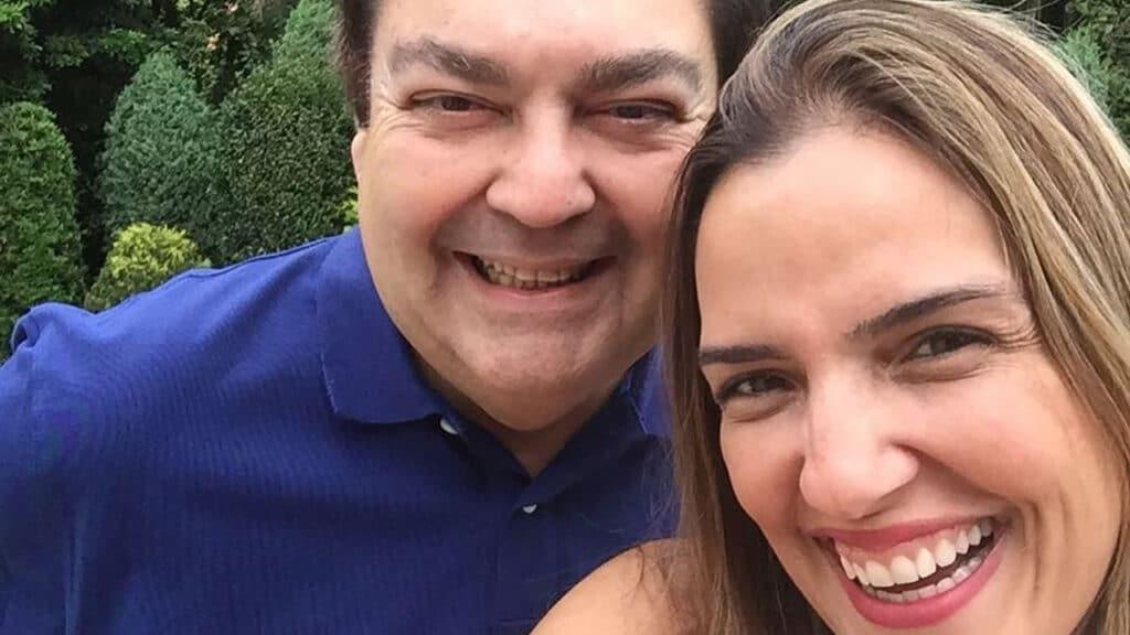 Luciana Cardoso e Fausto Silva; a mulher do apresentador agradeceu após mensagem de Tiago Leifert na final da Super Dança dos Famosos (foto: Reprodução/Instagram)