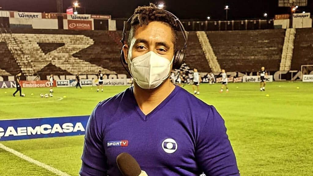 Luiz Teixeira relata episódios de racismo no trabalho em estádios (foto: Reprodução/Instagram)