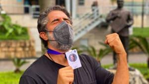 Marcos Mion gravou seu primeiro Caldeirão na Globo; apresentador celebrou nas redes sociais (foto: Reprodução/Instagram)