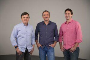 Mauro Cezar Pereira, Vladir Lemos e Arnaldo Ribeiro; TV Cultura aumenta investimento no esporte (foto: Nadja Kouchi/TV Cultura)