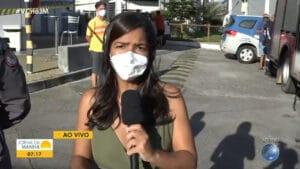 Camila Oliveira mora perto de posto de combustíveis que pegou fogo (foto: Reprodução/TV Bahia)