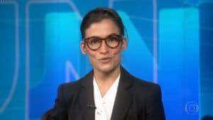 Renata Vasconcellos fez desabafo emocionante no final do Jornal Nacional (foto: Globo/Reprodução)