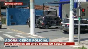 Companheiro da repórter Letícia Gil, da Band, foi morto a tiros em tentativa de assalto (foto: Band/Reprodução)