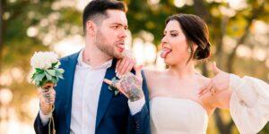 Andressa Ganacin e Nasser Rodrigues se casaram após oito anos de relacionamento (foto: Reprodução)