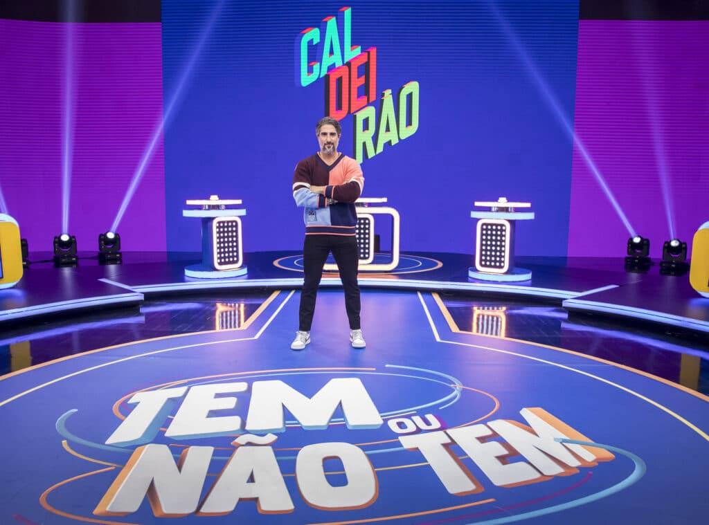 Marcos Mion na primeira gravação do novo Caldeirão (foto: Globo/João Cotta)