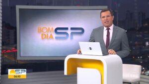 Rodrigo Bocardi no Bom dia SP de 27 de agosto: maior audiência do ano (foto: Reprodução/TV Globo)