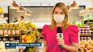 Cristina Mayumi teve o celular roubado e criminosos fizeram transações de R$ 24 mil (foto: Reprodução/Globo)