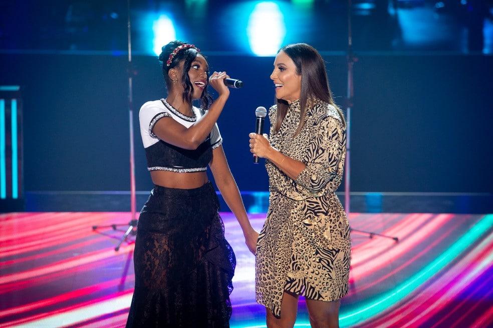 Iza e Ivete Sangalo estão confirmadas no próximo Rock in Rio (foto: Divulgação/TV Globo)