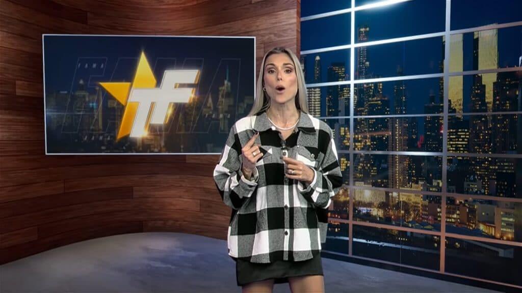 Flávia Viana é uma das atuais apresentadoras do TV Fama: fracasso de audiência (foto: Reprodução/RedeTV!)