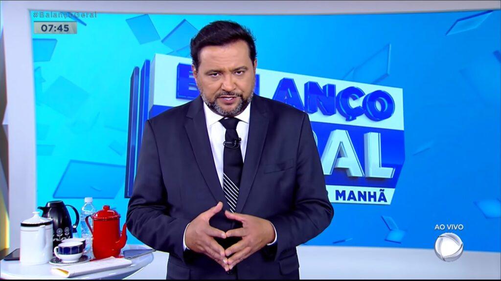 Geraldo Luís no Balanço Geral Manhã: audiência em alta (foto: Reprodução/Record)
