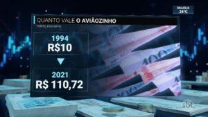 SBT usou aviõezinhos de Silvio Santos para exemplificar economia (foto: Reprodução/SBT)