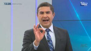 Jasson Goulart não vingou como apresentador do Balanço Geral Curitiba (foto: Reprodução/RIC Record)