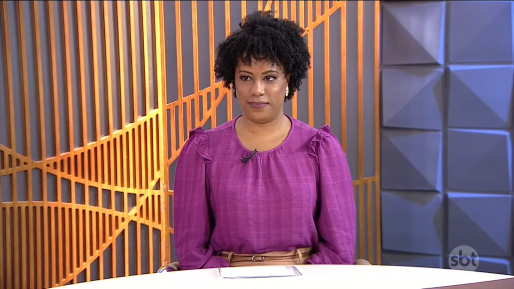 Karla Lucena era uma das principais repórteres do SBT em Brasília: trocou Silvio Santos pelo Jornal Nacional (foto: Reprodução/SBT)