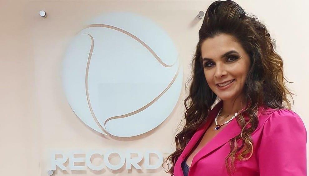 Luiza Ambiel é esperança da Record para subir audiência de Rodrigo Faro (foto: Reprodução)