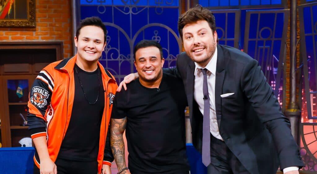 Matheus e Kauan foram os convidados de Danilo Gentili no The Noite (foto: Lourival Ribeiro/SBT)