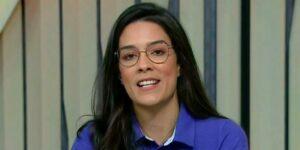 Renata Silveira está atuando na cobertura olímpica do SporTV (foto: Reprodução/TV Globo)