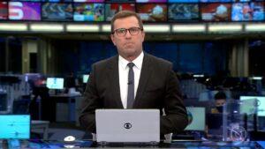 Sob o comando de Rodrigo Bocardi, Jornal da Globo venceu toda a programação do SBT (foto: Reprodução/TV Globo)