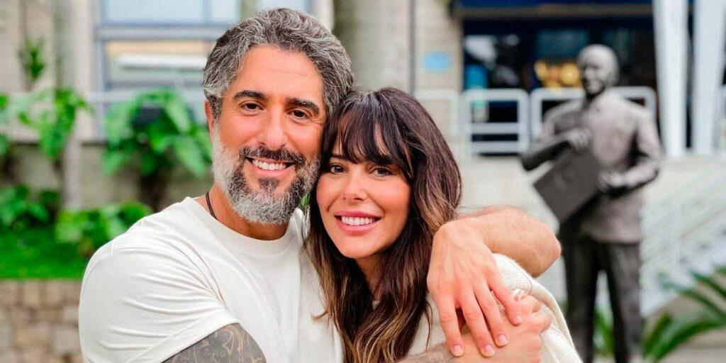 Marcos Mion posa com Suzana Gullo na sede da Globo, no Rio de Janeiro (foto: Reprodução)