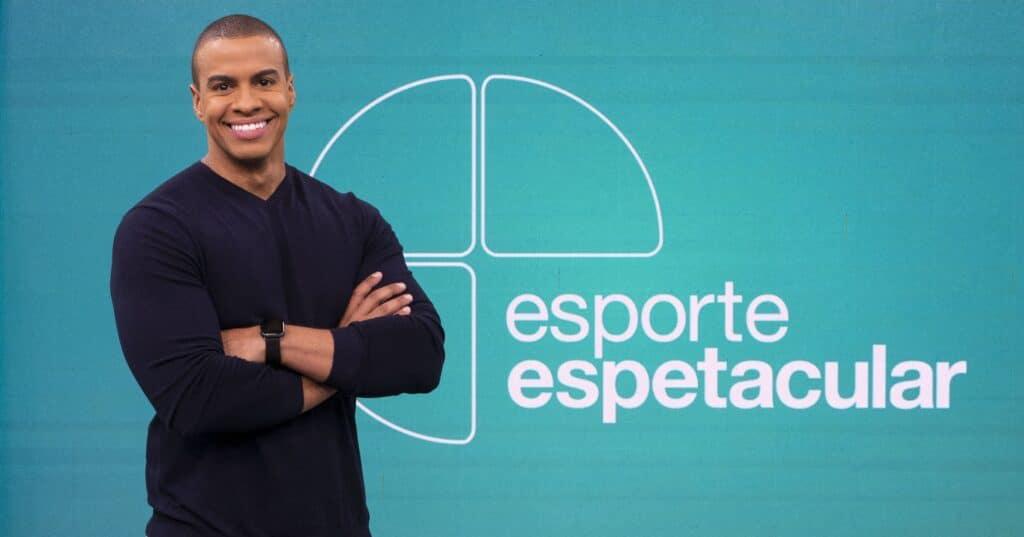 Thiago Oliveira é cotado para suceder Tadeu Schmidt no comando do Fantástico (foto: Maurício Fidalgo/TV Globo)
