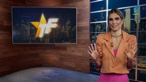 Flávia Viana no TV Fama de 9 de agosto: audiência em queda livre (foto: Reprodução/RedeTV!)