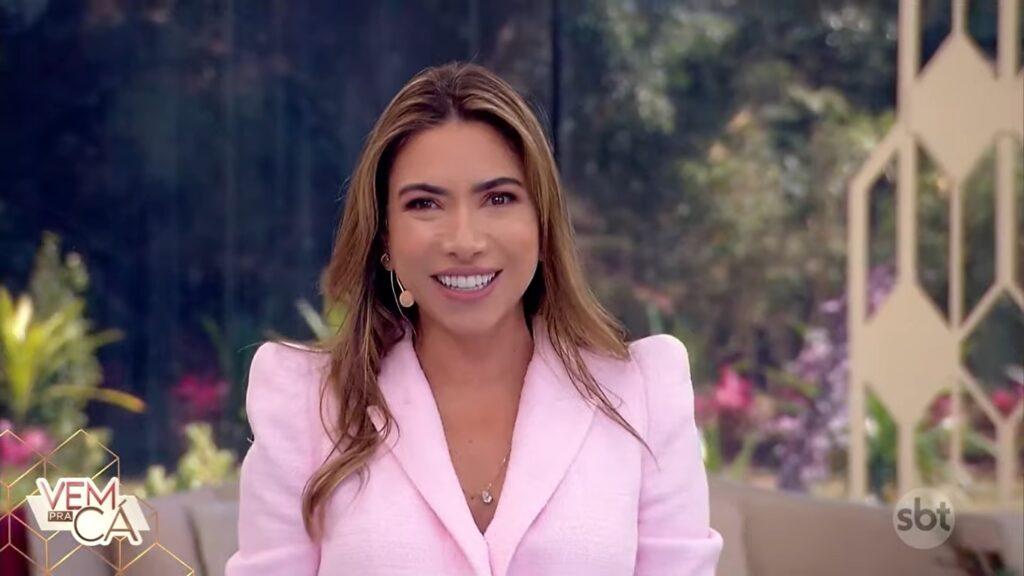 Patricia Abravanel no Vem Pra Cá de sexta-feira: revista eletrônica venceu o Fala Brasil (foto: Reprodução/SBT)
