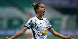 Gabi Portilho fez golaço e garantiu a vitória do Corinthians no jogo de ida da final do Brasileirão Feminino (foto: Rebeca Reis e Livia Villas Boas/Staff Images Woman/CBF)