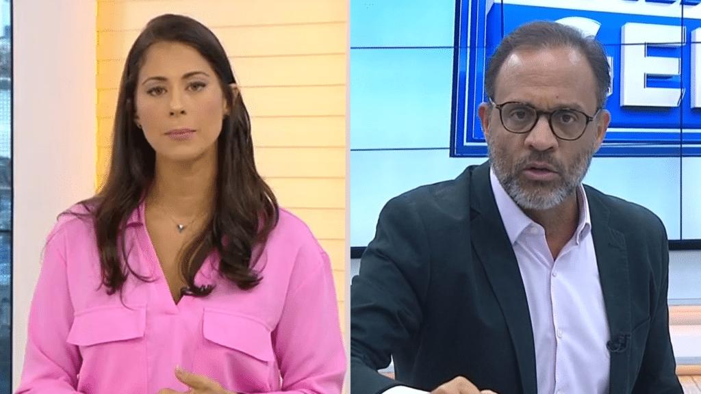 Jéssica Senra reclamou de repórter da Record que invadiu entrevista ao vivo na Globo (foto: Reprodução)