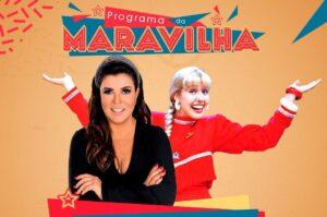 Mara Maravilha recebe Mariane Dombrova, que também apresentou programas infantis no SBT (foto: SBT/Divulgação)