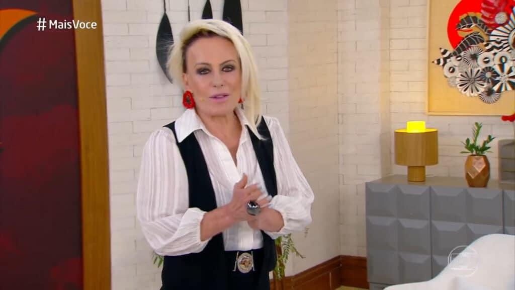Ana Maria Braga se confundiu na hora de fazer comercial ao vivo (foto: Globo/Reprodução)
