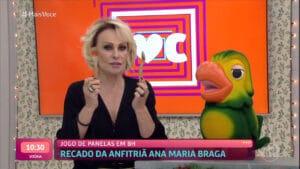 Ana Maria Braga exibiu quadro com presença de Louro José; o Jogo de Panelas foi gravado ante da crise sanitária e da morte do intérprete Tom Veiga (foto: Reprodução/Globo)