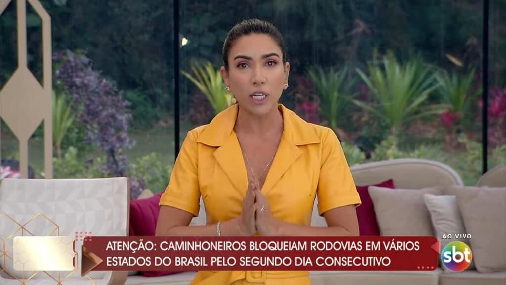No Vem Pra Cá, Patricia Abravanel defendeu o jornalismo do SBT (foto: SBT/Reprodução)