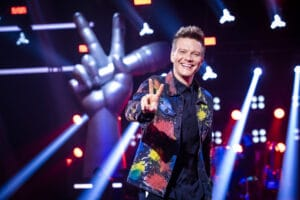 Michel Teló deixou escapar palavrão ao vivo no The Voice (foto: Globo/João Miguel Júnior)
