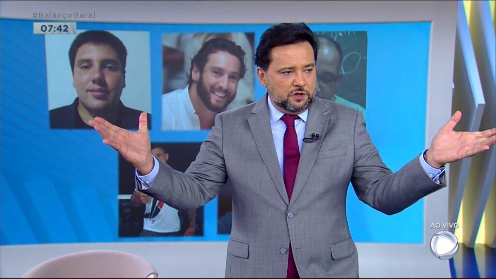 Geraldo Luís no Balanço Geral Manhã: vice-líder de audiência na quarta-feira (foto: Reprodução/Record)